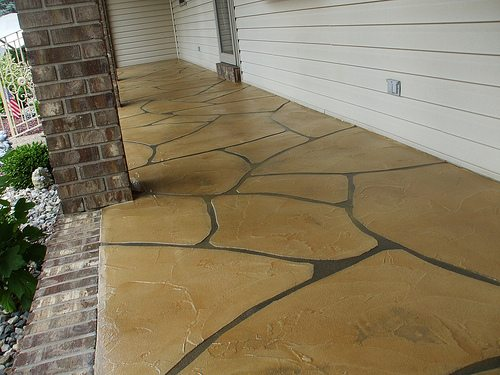 Flagstone Stamped Concrete | Monasses Virginia | Tailored Concrete Coatings