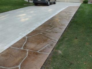 Flagstone Stamped Concrete | Leesburg Virginia | Tailored Concrete Coatings