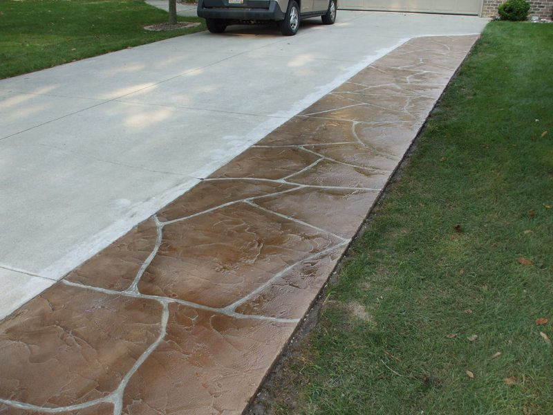 Flagstone Stamped Concrete | Leesburg Virginia | Tailored Concrete Coatings