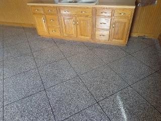 Epoxy Tile Flake Flooring   Monasses Virginia   Tailored Concrete Coatings