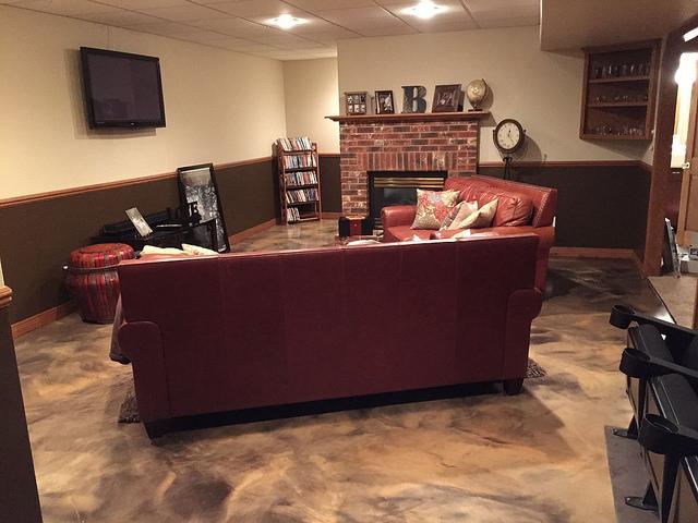 Metallic Marble Epoxy Flooring | Winchester Virginia | Tailored Concrete Coatings