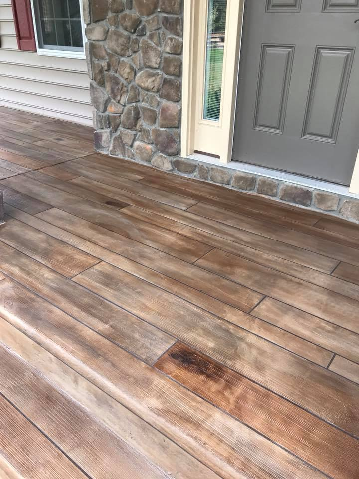 Rustic Concrete Wood | Winchester Virginia | Tailored Concrete Coatings
