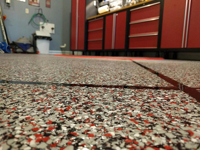 Epoxy Tile Flake Flooring | Garage | Winchester Virginia | Tailored Concrete Coatings