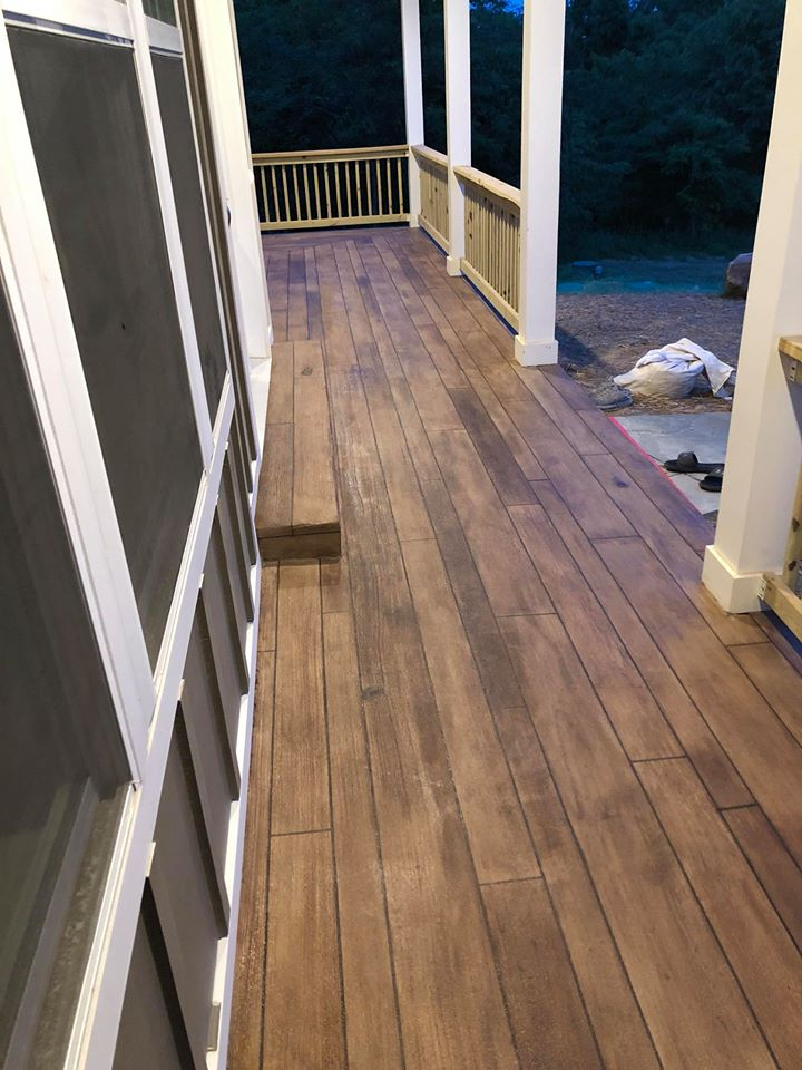 Rustic Concrete Wood | Lessburg Virginia | Tailored Concrete Coatings