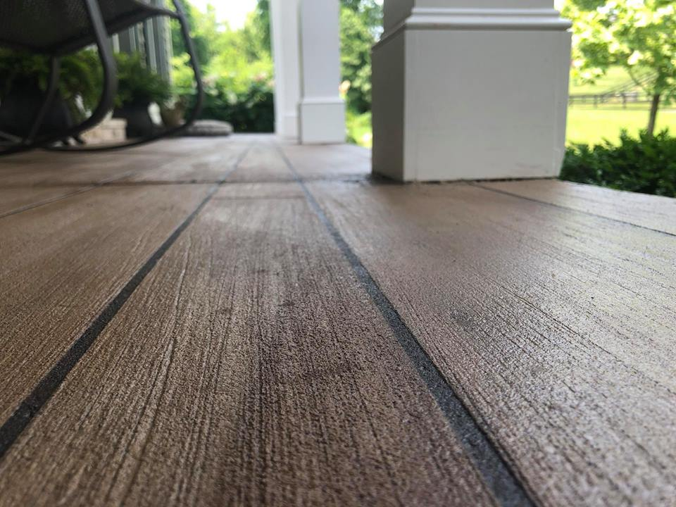 Rustic Concrete Wood | Monasses Virginia | Tailored Concrete Coatings
