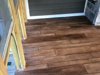 Rustic Concrete Wood | Lessburg Virginia | Tailored Concrete Coatings