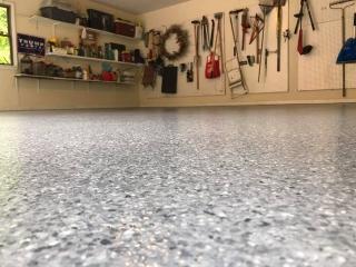 Graniflex Concrete Resurfacing   Garage   Lessburg Virginia   Tailored Concrete Coatings