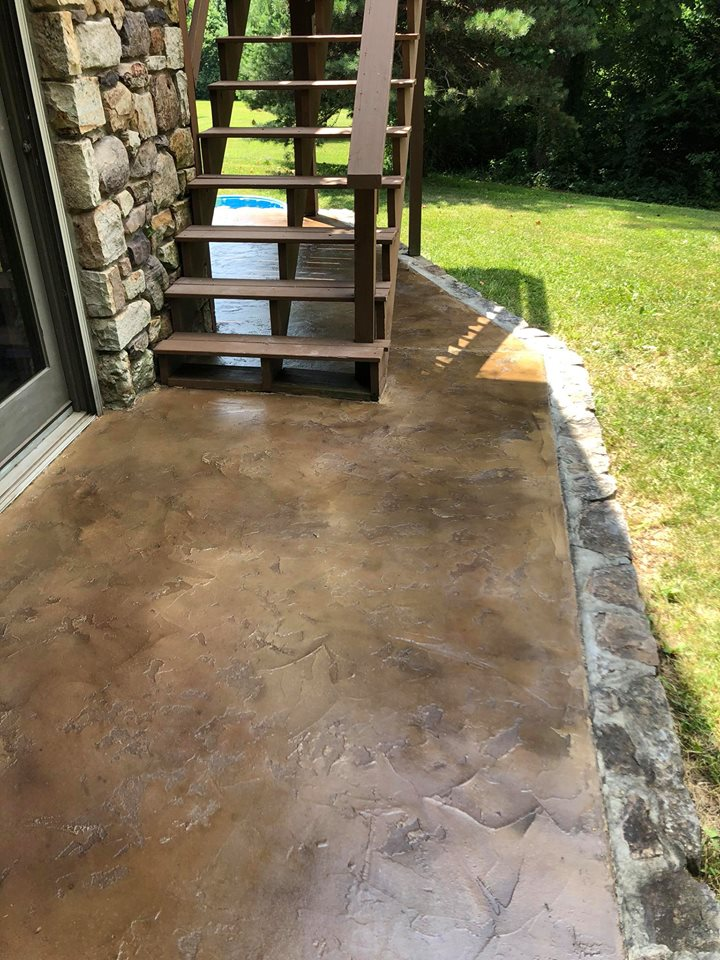 Tuscan Slate Concrete Overlay | Winchester Virginia | Tailored Concrete Coatings