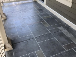 Slate Stained Concrete | Leesburg Virginia | Tailored Concrete Coatings