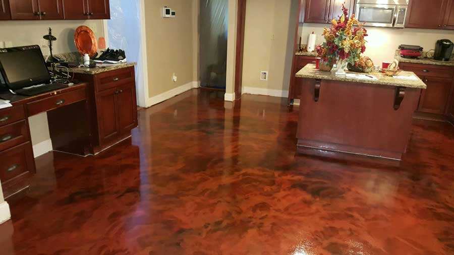 Metallic Marble Epoxy Flooring | Winchester Virginia | Tailored Concrete Coatings